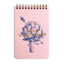 Petit Bloc-Notes Coeur d'Artichaut Rose 120 pages