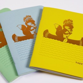 Trio Petits Carnets Happy Canoé 48 pages - zoom - Made in France