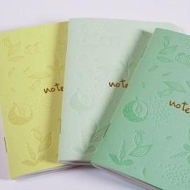 Trio Petits Carnets Floral 48 pages 3 - Made in France
