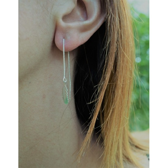 Boucles d'Oreilles Plume - Made in France