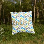 """Coussin de Porte """"Chut"""" Feuille Scandy 1 - Made in France"""