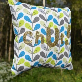 """Coussin de Porte """"Chut"""" Feuille Scandy 3 - Made in France"""