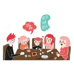 "Kit de discussions ""à table"" -Illustration - Made in France"